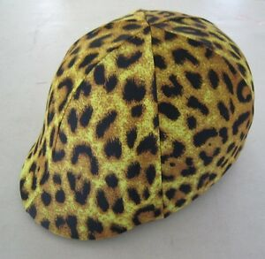 Horse Helmet Cover ALL AUSTRALIAN MADE Leopard print Any size you need