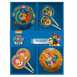24-Muffin-Formchen-amp-Fahnchen-Paw-Patrol-Dekoration-Back-Set