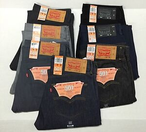 Fly Fly per Shrink 501 jeans adattarsi dritto uomo Levis originale Button IgqpwdIF