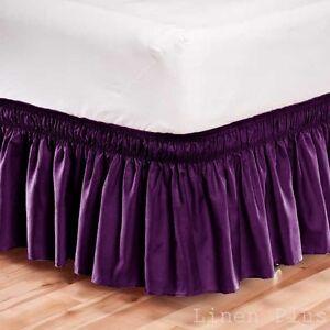 Elastic Bed Ruffle Queen