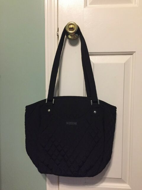 a90208d3785b Vera Bradley MICROFIBER GLENNA Shoulder Tote Purse Bag in Classic Black NWT
