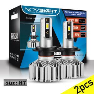2X-H7-Bombillas-Faro-Lampara-Coche-LUZ-LED-10000LM-60W-6000K-Xenon-Blanco-HID