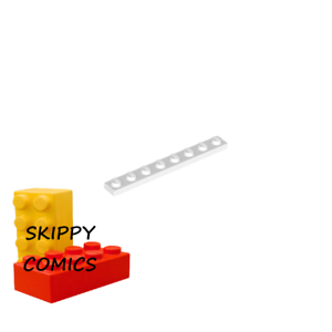Plaque 1x8 BLANC WHITE plate 346001-3460 Lego