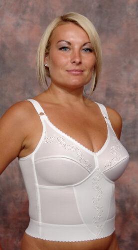 Longline Bra Shapewear Berdita White Beige Plus Size Non-Wired 15003