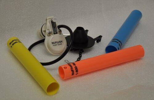 3 Extension Tubes /& One Soft Rubber Flapper Valve. Toilet Hi-speed Fill Valve