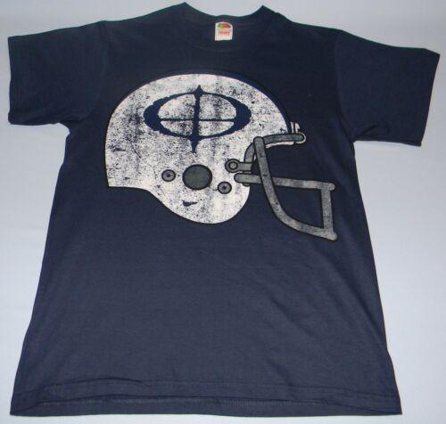OZZY OSBOURNE Authentic Football Helmet BLUE T-Shirt X-LARGE NEW W// BACK PRINT