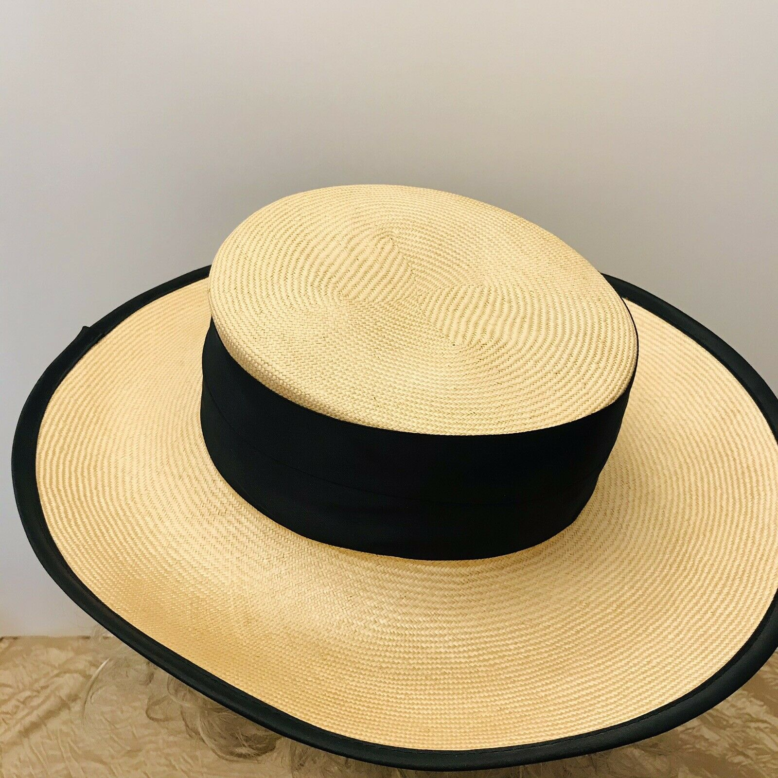 Capo Couture From Austria Vintage Straw Wide Brim… - image 4