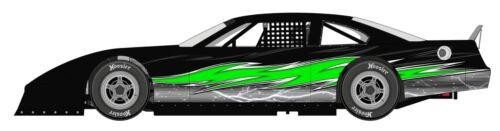 RACE CAR WRAP Decals IMCA Late Model Dirt # 101 Skull Flames,Graphics