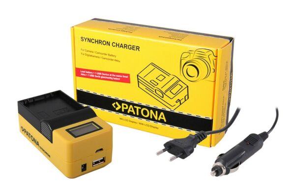 DernièRe Collection De Patona Synchrone Chargeur Usb Pour Olympus Blh1 Blh-1 Avec écran Lcd
