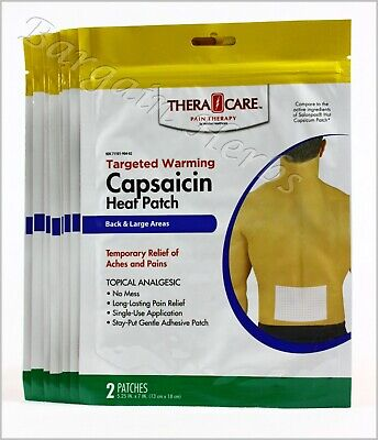 8x Veridian Capsaicin Topical Analgesic Heat Patch 2 Count Sealed Free  Shipping 845717007221 | eBay