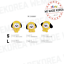 BT21-Baby-Character-Wappen-Badge-S-amp-L-Size-Official-K-POP-Authentic-Goods miniature 6