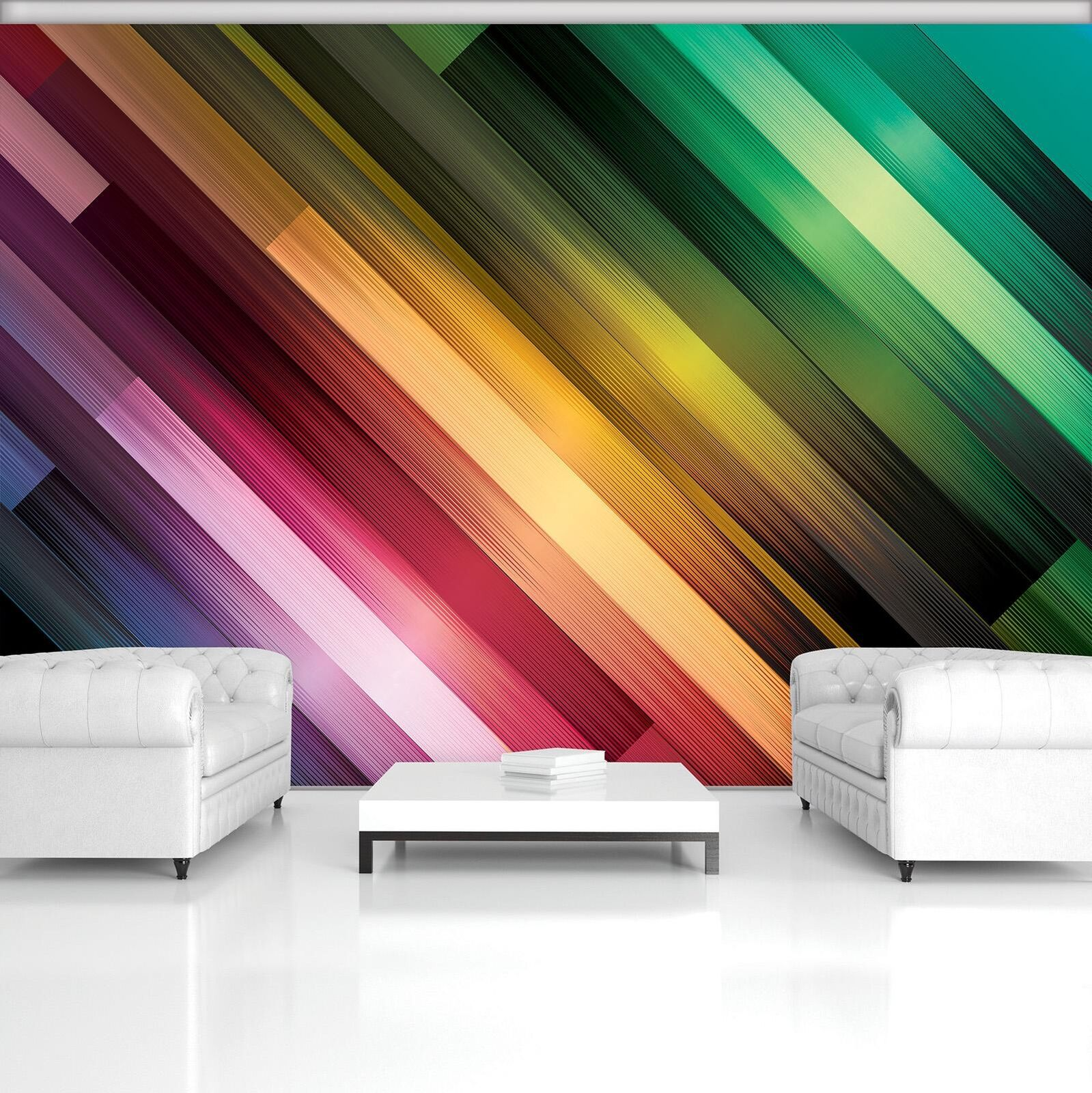 Photo Wallpaper Mural Non-woven 0067483D13 Rainbow Stripes