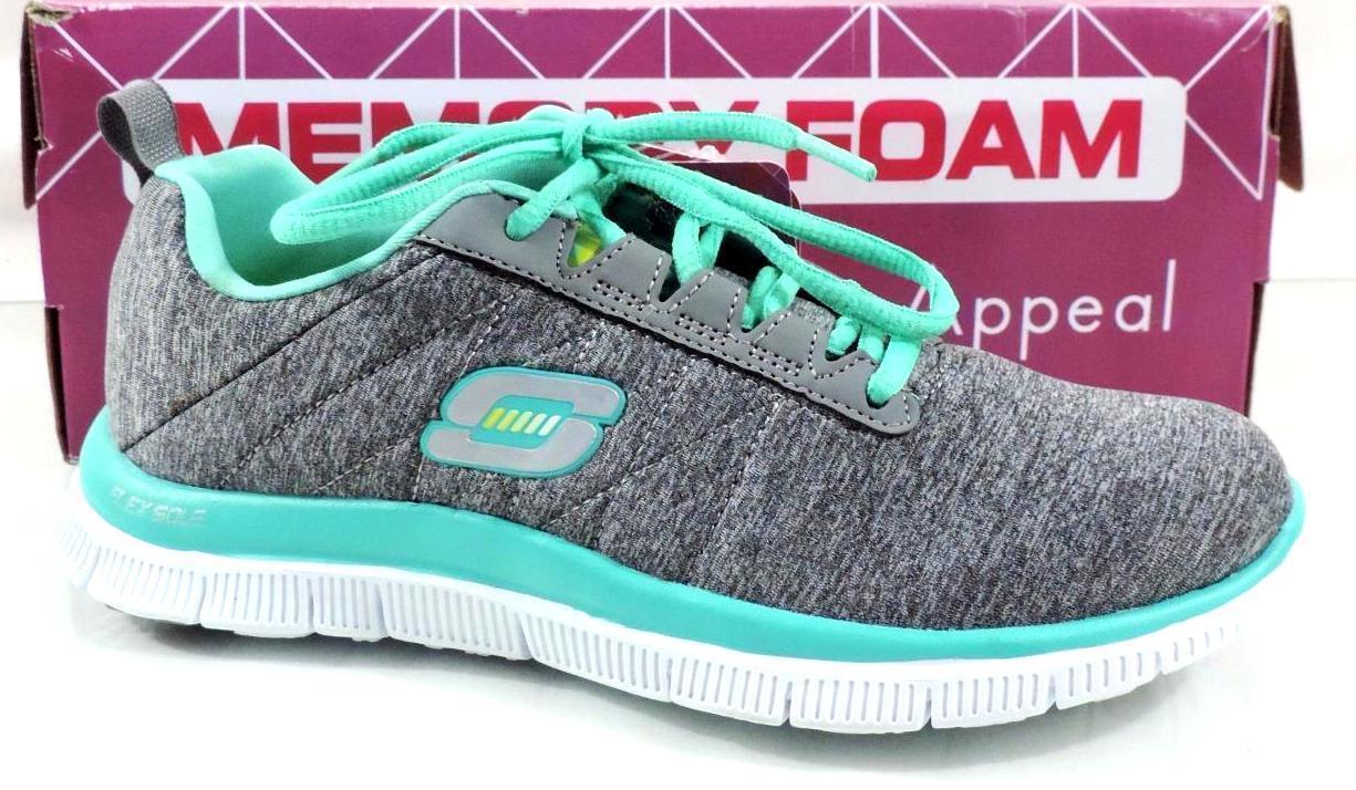 Women's Shoe Skechers Flex Appeal NEXT GENERATION Running Sneakers Grey Size 5.5