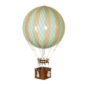 """Hot Air Balloon Model Mint Green 13"""" Aviation Hanging Ceiling Home Decor New"""