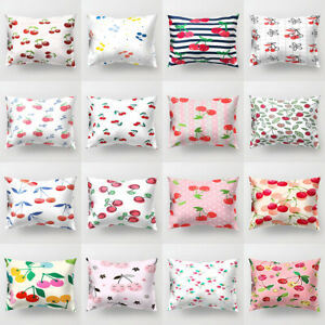 Am-KF-Cherry-Printed-Rectangle-Throw-Pillow-Case-Cushion-Cover-Home-Car-Decor