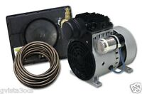 Easy Pro Pond Aerator Kit-rocking Piston-lake-water-1/4hp Compressor-air Bubbler