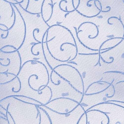 DQT Tissé Swirl motifs bébé bleu Formel Homme mariage Gilet S-5XL
