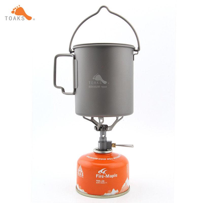 Utensilios de cocina de titanio de utensilios de cocina de camping toaks Pot-750-HB-3000T Olla Con Mango de fianza