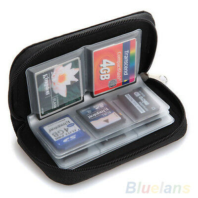 Ideal SDHC MMC CF Micro SD Memory Card Storage Carrying Pouch Holder Wallet BB4U