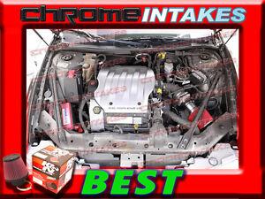 KN BLACK RED 99 02 OLDSMOBILE INTRIGUE GL GX GLS 35 35L V6 AIR