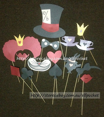 Photo Booth Props Alice In Wonderland On A Stick Wedding Weddings Party Supplies