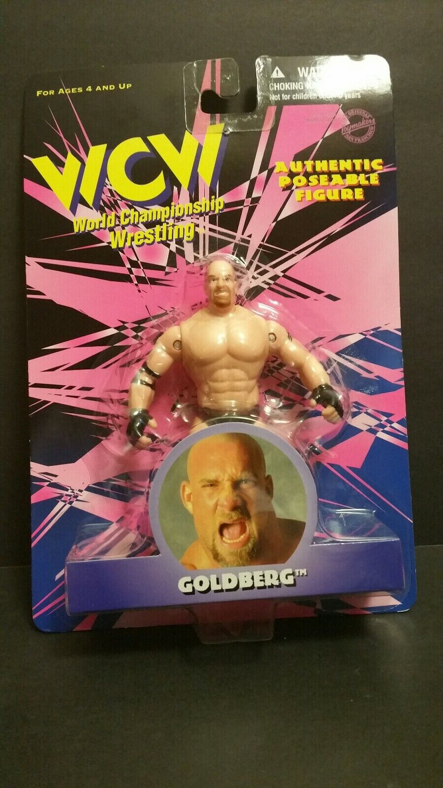 WCW AUTHENTIC POSEABLE FIGURE goldBERG ACTION FIGURE(077)(3-3)