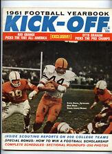 Kick-Off Football Yearbook 1961 Magazine vtg NCAA NFL AFL - Ernie Davis Syracuse