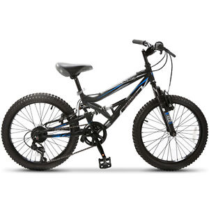 20-034-Teen-Kids-Children-Mountain-Bike-7-Speed-Bicycle-Shimano-Full-Suspension