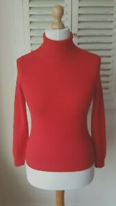 maglione Marks Bnwt 6 Dolcevita Cashmere Autograph Spencer Red nTddwqYB