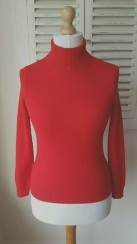 Autograph maglione Dolcevita Cashmere Marks Red Bnwt 6 Spencer TYqgEw