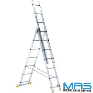 Aluminium-Zarges-Combination-ladders-3-section-Best-Value-Free-Delivery