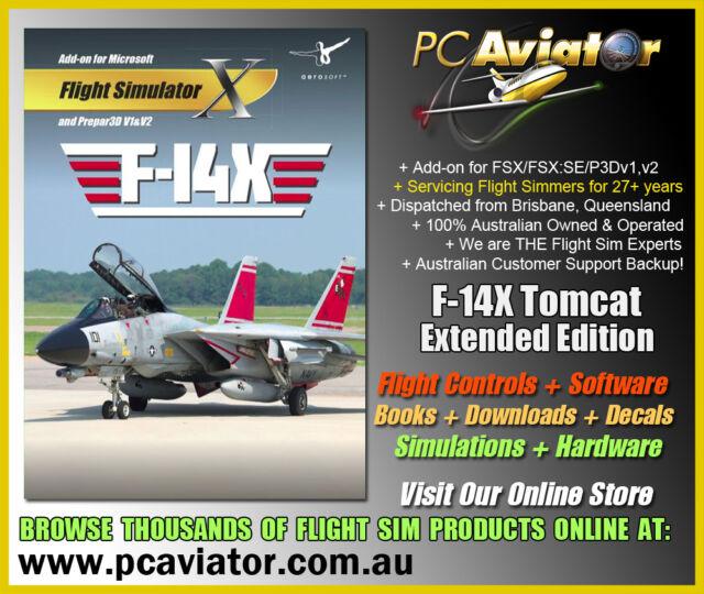 Aerosoft F-14 X Tomcat Extended Edition Addon (FSX/FSX:SE/P3D) - Aussie  Seller