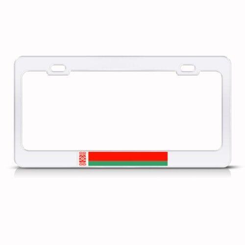 BELARUS FLAG BELARUSIAN COUNTRY Metal License Plate Frame Tag Holder Two Holes
