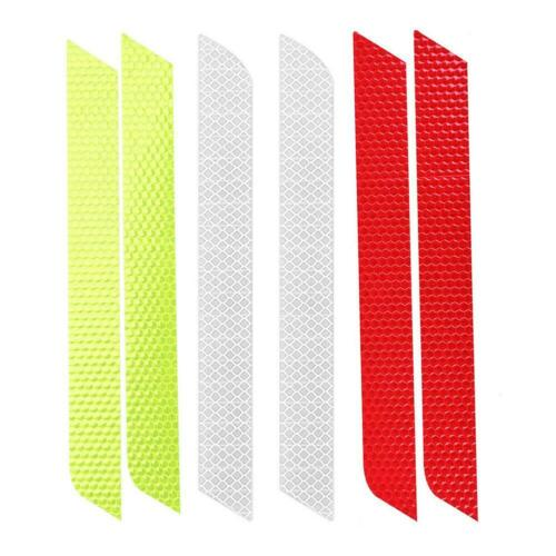 2pcs Car Reflective Sticker Decal Warning Tape Rear Tail Light Bumper Strip UK