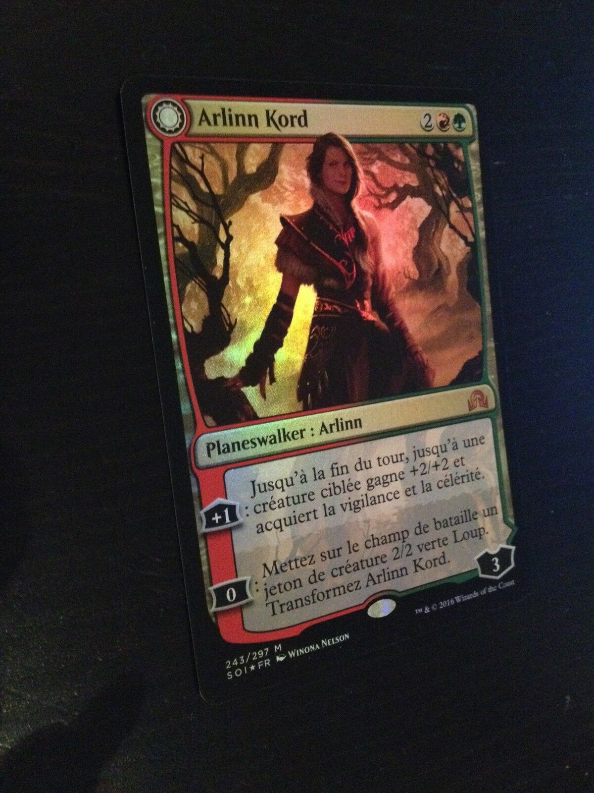 MTG MAGIC MAGIC MAGIC SOI ARLINN KORD (FRENCH ARLINN KORD) NM FOIL e99246