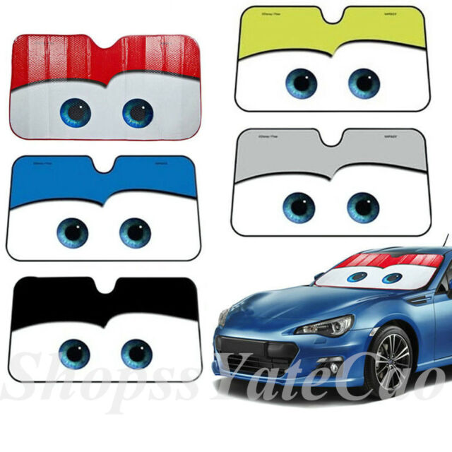 13 7m Cute Cartoon Foil Big Eyes Auto Cars Cool Front Windshield Sun Shade  Visor for sale online  864e4637d6c