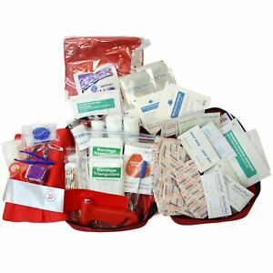 232pc First Aid Kit Bag All Purpose Emergency Survival Home Car Medical Bag