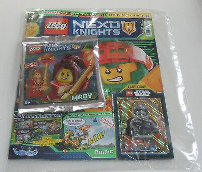 LEGO Nexo Knights Magazin Nr 31 mit Macy und Limitierte Karte Captain Phasma