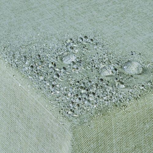 Tischdecke Fleckschutz Lotus Effekt Leinenoptik abwaschbar Rund-Eckig-Oval GRÜN