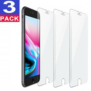 3-Pack-iPhone-6-7-8-Plus-Tempered-GLASS-Screen-Protector-Bubble-Free