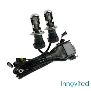 Innovited 55W HID H4-3 9003 10000K Bi xenon Hi//Lo Replacement Bulbs With Harness