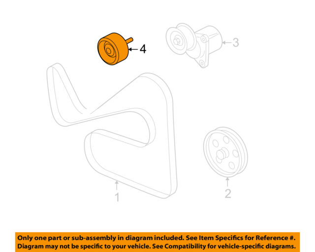 FORD OEM-Serpentine Idler Pulley 1S7Z8678AC