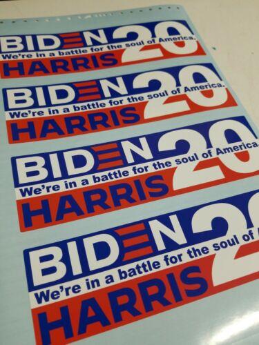 BIDEN HARRIS 2020 Democrat Political Bumper Sticker Decal Made In USA