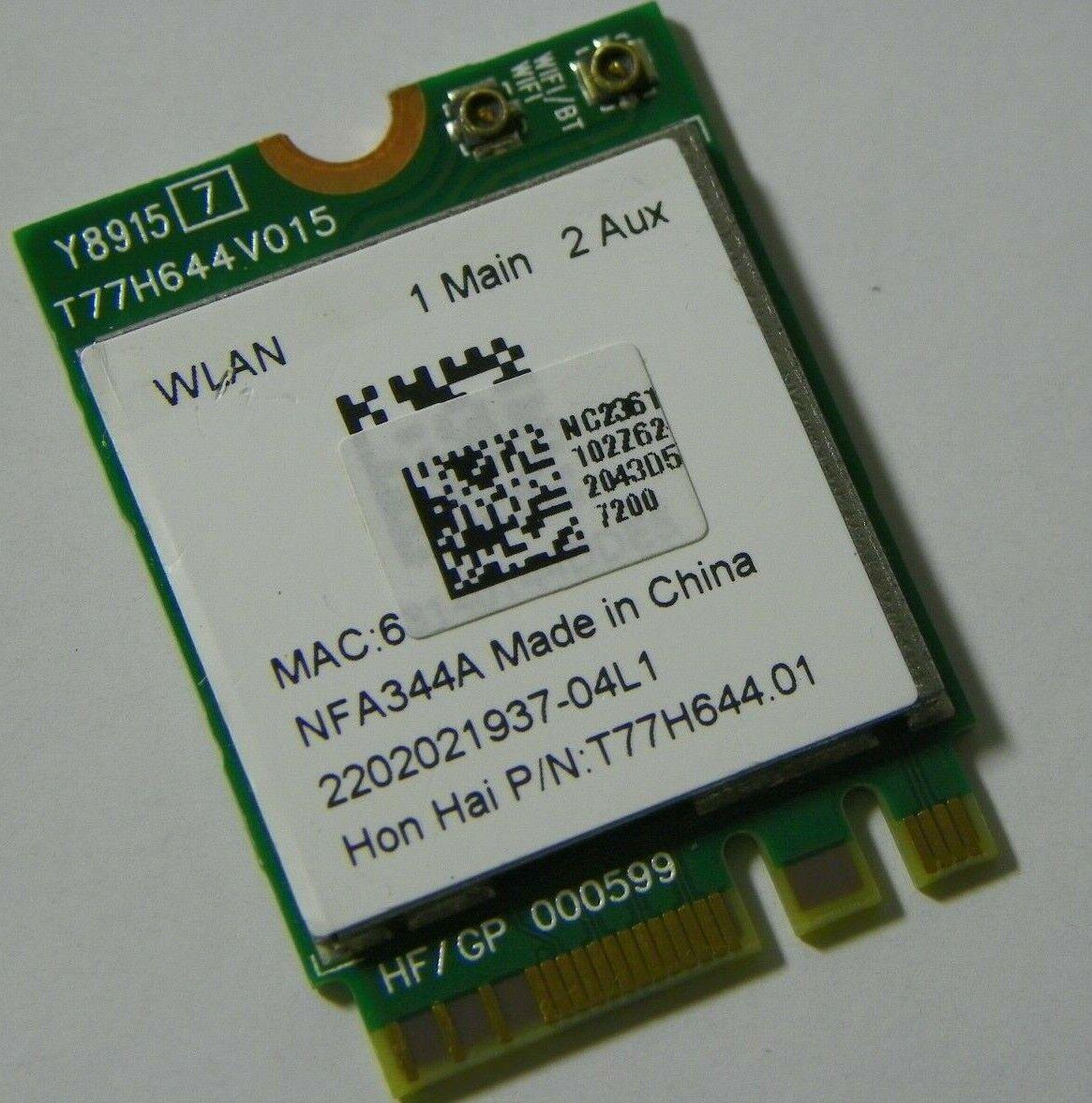 New Qualcomm Atheros QCNFA344A Dual Band 802.11ac BT NGFF OEM P//N 0C08-00PA0PB