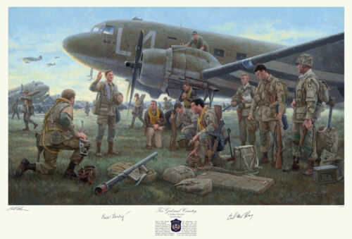 Print Signed by pilots and D-day jump 101st vets who served with Dick Winters!