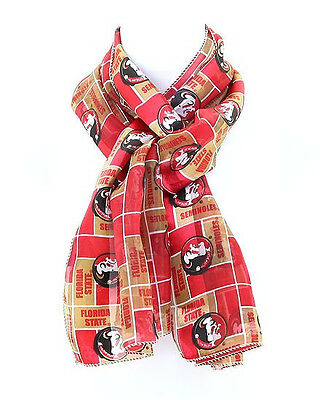 "FLORIDA STATE UNIVERSITY ""SEMINOLES"" SCARF ""GO NOLES"" ""NEW DESIGN""100% POLYESTER"