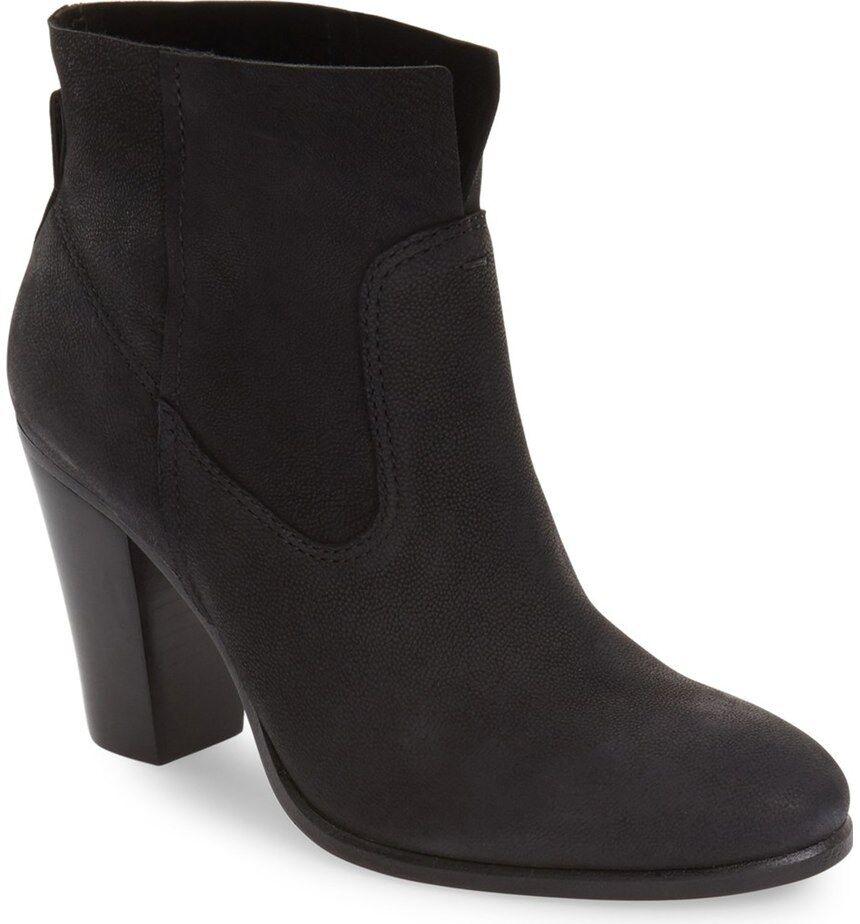 Vince Camuto feina botín para mujer botas al Tobillo de Cuero Negro Tamaño 9
