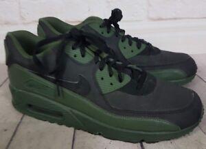 size 40 c96e3 225d6 Details about Nike Air Max 90 Winter Premium Black Green Leather Suede  Men's Size 12 / 46 EU