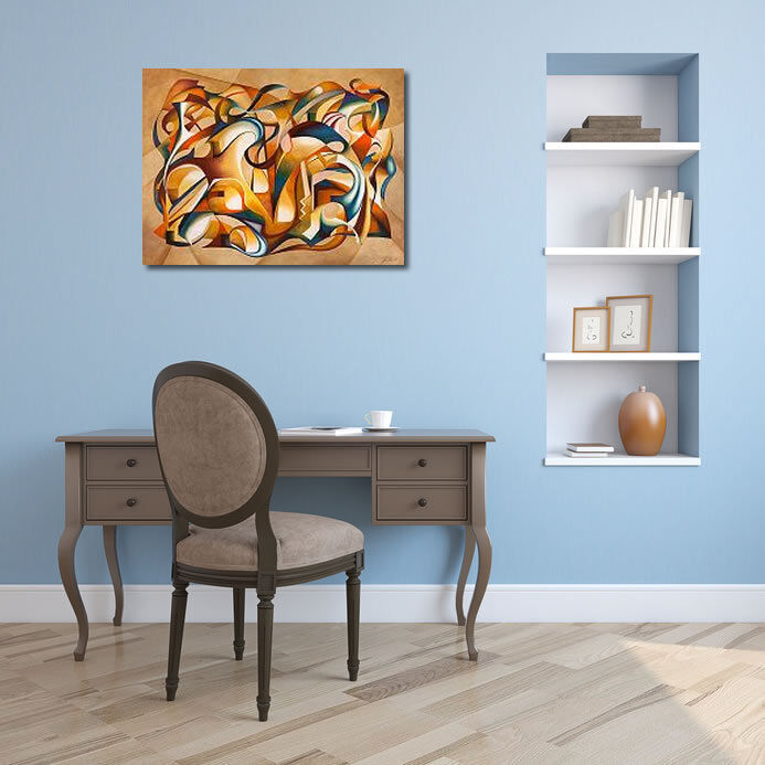 Laura Ceccarelli  cuña-imagen Open Your Mind marcos de cuña-imagen  lienzo abstracto multicolor Modern 60e0ab