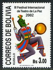 Bolivia 1174, MI 1528, MNH. 3rd Intl. Theater Festival, La Paz, 2002